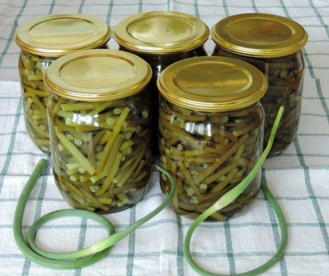 Маринованные стрелки чеснока рецепт на зиму с фото пошагово